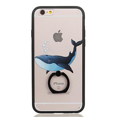 Pouzdro Uyumluluk Apple Yüzüklü Tutacak Şeffaf Temalı Arka Kapak Hayvan Sert PC için iPhone 6s Plus iPhone 6s iPhone 6 Plus iPhone 6