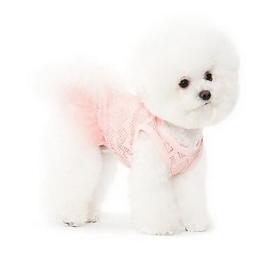 Köpek Elbiseler Köpek Giyimi Terylene Yaz Sevimli Prenses Pembe Evcil hayvanlar için