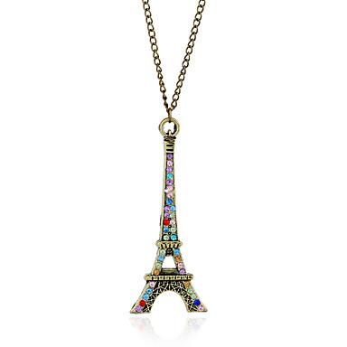 نساء قلائد الحلي الماس الاصطناعية أخرى برج حجر الراين تقليد الماس سبيكة ترف قديم موضة euramerican في أوروبي مجوهرات من أجل حزب مناسبة