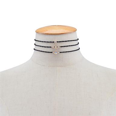 Pentru femei Geometric Shape Personalizat Γεωμετρικά Modă Euramerican Coliere Layered Bijuterii Piele  Ștras Aliaj Coliere Layered .