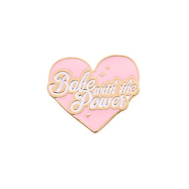 للمرأة فتيات دبابيس حب قلب الصداقة اسلوب لطيف بديع مينا سبيكة قلب وردي فاتح مجوهرات من أجل زفاف حزب مناسبة خاصة يوميا فضفاض