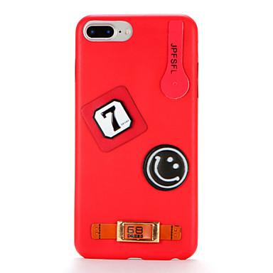 Για Φτιάξτο Μόνος Σου tok Πίσω Κάλυμμα tok Κινούμενα σχέδια Μαλακή Συνθετικό δέρμα για AppleiPhone 7 Plus iPhone 7 iPhone 6s Plus iPhone