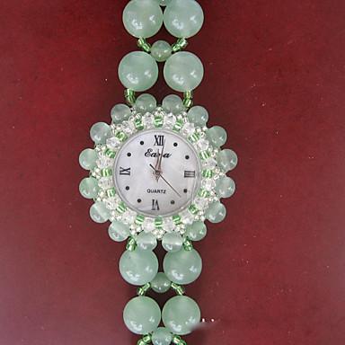 Kadın's Moda Saat Quartz Açık Yeşil Bant Yeşil