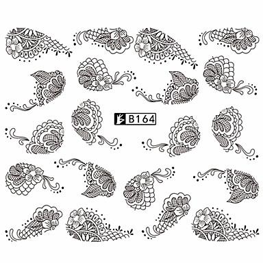 5pcs Black Lace Stickers +5pcs White Lace Stickers Nail Art αυτοκόλλητο Αυτοκόλλητα Νερό Μεταφορά Lace αυτοκόλλητο μακιγιάζ Καλλυντικά