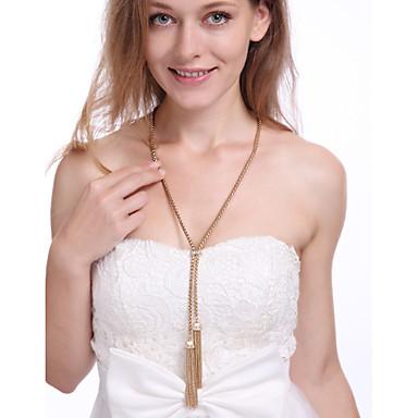 Naisten Line Shape Riipus-kaulakorut Metalliseos Riipus-kaulakorut , Päivittäin