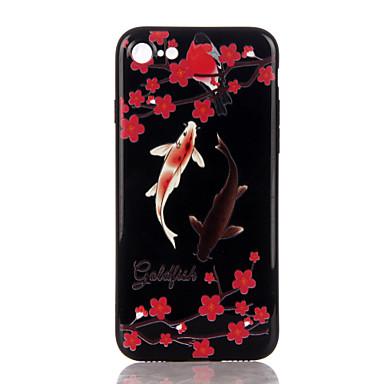 Na Etui Pokrowce Wzór Wytłaczany wzór Etui na tył Kılıf Kwiaty Miękkie Poliuretan termoplastyczny na Apple iPhone 7 Plus iPhone 7 iPhone