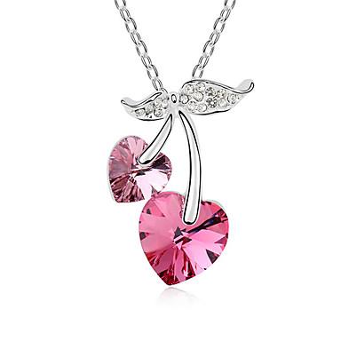 للمرأة قلائد الحلي كريستال Heart Shape كروم موضة بديع مجوهرات من أجل زفاف الذكرى السنوية تهاني