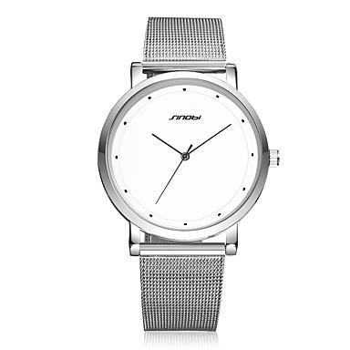 Erkek Elbise Saat Moda Saat Quartz Su Resisdansı Darbeye Dayanıklı Paslanmaz Çelik Bant Vintage Günlük Minimalist Gümüş