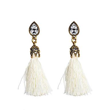 Kadın's Damla Küpeler Püskül Moda Kristal alaşım Mücevher Günlük Kostüm takısı