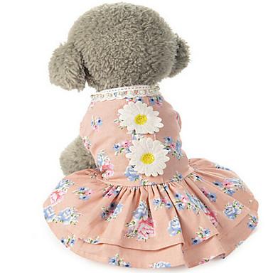 Pies Suknie Ubrania dla psów Klasyczny Urocza Codzienne Motyw świąteczny Urodziny Dwustronny Modny Ślub Sylwester Halloween Księżniczka