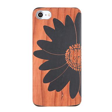 إلى مطرز نموذج غطاء غطاء خلفي غطاء زهور قاسي خشبي إلى Apple فون 7 زائد فون 7
