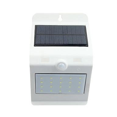 Güneş ışığı kontrolü insan vücudu sensörü güneş duvar lambası 20 beyaz 4 sıcak beyaz led dokunmatik anahtarı ışıkları