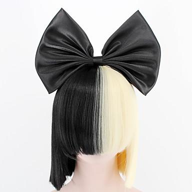 a8c5e7162fa2 Syntetiska peruker / Kostymperuker Rak Kardashian Stil Med lugg Utan lock  Peruk Svart Svart Syntetiskt hår