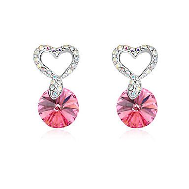 Γυναικεία Κουμπωτά Σκουλαρίκια Κρυστάλλινο Εξατομικευόμενο Love Καρδιά Euramerican Κοσμήματα Γάμου Πάρτι Γενέθλια