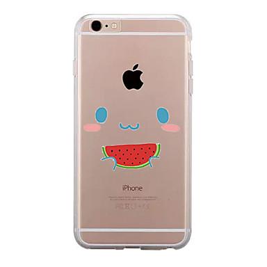 Pentru Transparent Model Maska Carcasă Spate Maska Fruct Moale TPU pentru AppleiPhone 7 Plus iPhone 7 iPhone 6s Plus iPhone 6 Plus iPhone