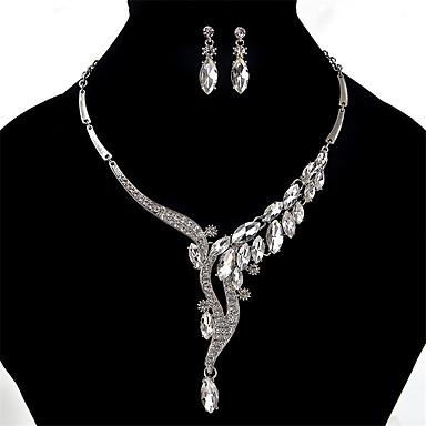 للمرأة كريستال حجر الراين كريستال حجر الراين مجموعة مجوهرات 1 زوج من الأقراط القلائد - مثيرة euramerican في موضة أخرى مجموعة مجوهرات من