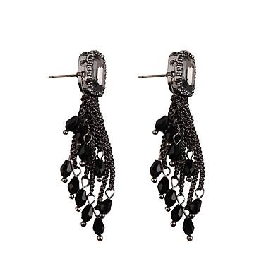 Damla Küpeler Mücevher Moda Bohemia Stili Euramerican Değerli Taş Mücevher Altın Siyah Gri Mücevher Için Düğün Parti Özel Anlar 1pc 1 çift