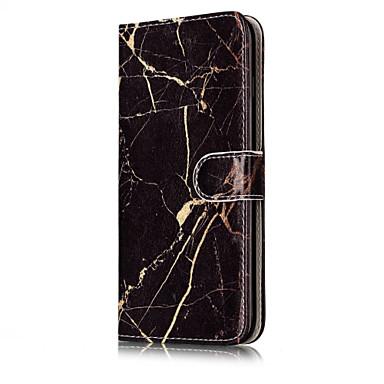 Için Cüzdan Kart Tutucu Satandlı Flip Temalı Pouzdro Tam Kaplama Pouzdro Mermer Sert PU Deri için AppleiPhone 7 Plus iPhone 7 iPhone 6s