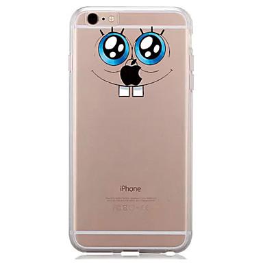 Etui Käyttötarkoitus Apple iPhone 7 Plus iPhone 7 Läpinäkyvä Kuvio Takakuori Leikki Apple-logon kanssa Pehmeä TPU varten iPhone 7 Plus