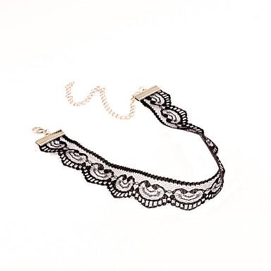 Dámské Obojkové náhrdelníky Jeden pruh Evropský Gothic Módní Euramerican Krajka Černá Náhrdelníky Šperky Pro Párty Zvláštní příležitosti Narozeniny Denní Ležérní