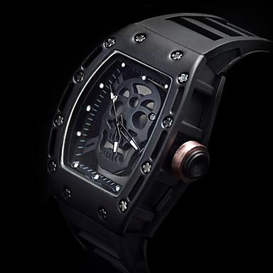 levne Pánské-Pánské Sportovní hodinky Hodinky s lebkou Náramkové hodinky Křemenný Silikon Černá kreativita Svítící Cool Analogové Luxus Vintage Na běžné nošení Czaszka Módní - Stříbrná Růžová Černá a zlatá Dva