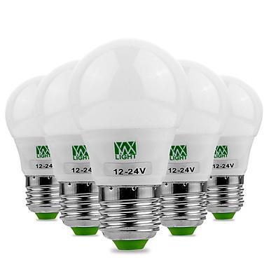 3W E26/E27 LED Λάμπες Σφαίρα 6 leds SMD 5730 Διακοσμητικό Θερμό Λευκό Ψυχρό Λευκό 200-300lm 2800-3200/6000-6500K AC 12V
