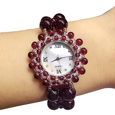pentru Doamne Ceas La Modă Quartz Jade Bandă Roșu Roșu Închis