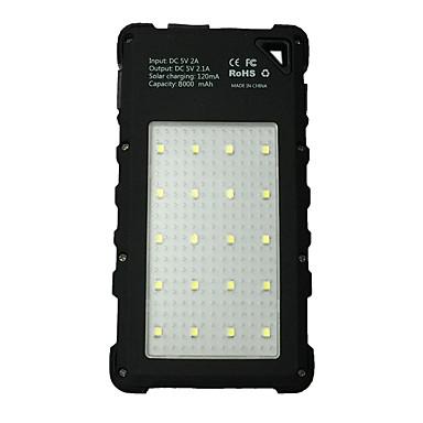Banca baterie externă 5V 2.0A #A Baterie Lanternă Multi-Ieșiri Încărcător Wireless Impermeabil LED