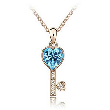 Kadın's Uçlu Kolyeler Kristal Kişiselleştirilmiş Aşk Kalp Euramerican Mücevher Uyumluluk Düğün Parti Doğumgünü