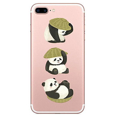 Maska Pentru Apple iPhone 7 Plus iPhone 7 Transparent Model Capac Spate Panda Desene Animate Moale TPU pentru iPhone 7 Plus iPhone 7