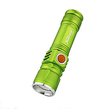 LED Flashlights LED 350 lm 3 طريقة LED زوومابلي صغير Adjustable Focus قابلة لإعادة الشحن ضد الماء ضوء سوبر Camping/Hiking/Caving Everyday