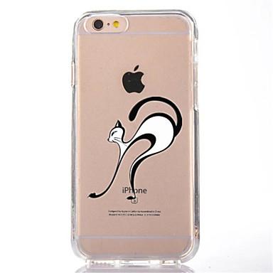 Etui Käyttötarkoitus Apple iPhone 7 Plus iPhone 7 Läpinäkyvä Kuvio Takakuori Kissa Pehmeä TPU varten iPhone 7 Plus iPhone 7 iPhone 6s