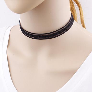 Dame Line Shape Personalizat Design Unic stil minimalist European Coliere Choker Bijuterii Dantelă Coliere Choker . Cadouri de Crăciun