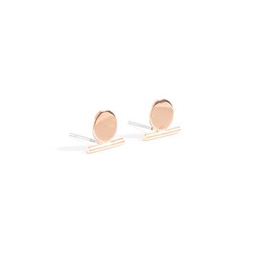 Κουμπωτά Σκουλαρίκια Κοσμήματα Κυκλικό Μοντέρνα Εξατομικευόμενο Euramerican Χαλκός Round Shape Χρυσό Ασημένιο Κοσμήματα ΓιαΠάρτι