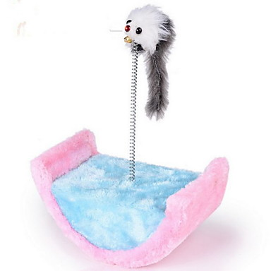 Kot Zabawka dla kota Zabawki dla zwierząt Interaktywne Drapak Drewniany Sznurkowy sizal Plusz Dla zwierząt domowych