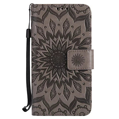 Case For Samsung Galaxy S7 edge S7 Card Holder Wallet with Stand Flip Embossed Full Body Cases Flower Hard PU Leather for S7 edge S7 S6