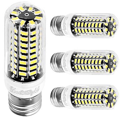 4W E26 E27 LED Mısır Işıklar T 80 led SMD 5733 Serin Beyaz 350lm 6000K AC 110-130V
