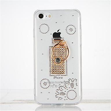 Pouzdro Uyumluluk iPhone 7 Apple Taşlı Yüzüklü Tutacak Kendin-Yap Arka Kapak Işıltılı Parlak Yumuşak TPU için iPhone 7