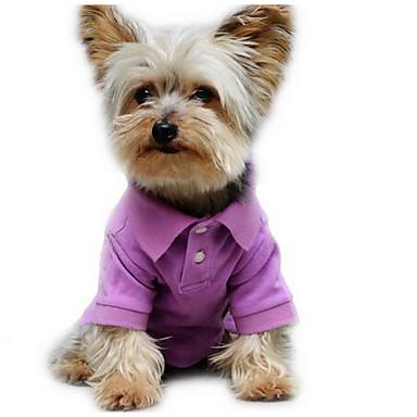 Koira T-paita Koiran vaatteet Sievä Rento/arki Muoti Tukeva Purppura Vihreä