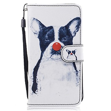 tok Για Samsung Galaxy J5 (2016) J3 (2016) Θήκη καρτών Πορτοφόλι με βάση στήριξης Ανοιγόμενη Με σχέδια Πλήρης Θήκη Σκύλος Σκληρή PU δέρμα