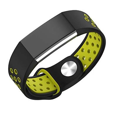 Watch Band na Fitbit Charge 2 Fitbit Pasek sportowy Metalowa bransoletka Silikon Opaska na nadgarstek