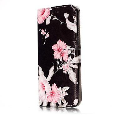 Kılıf Na Samsung Galaxy S8 S7 edge Etui na karty Portfel Z podpórką Flip Magnetyczne Wzór Pełne etui Kwiaty Twarde Skóra PU na S8 S7 edge