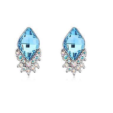 Damskie Kolczyki na sztyft Kryształ Spersonalizowane Unikalny euroamerykańskiej minimalistyczny styl Biżuteria Ślub Impreza Urodziny