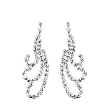 Kadın's Damla Küpeler Moda Euramerican Yapay Elmas Mücevher Mücevher Uyumluluk Düğün Parti Günlük