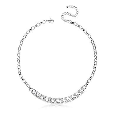 للمرأة Geometric Shape تصميم فريد أكريليك هيب هوب Rock أسلوب بسيط بريطاني قلادات ضيقة مجوهرات سبيكة قلادات ضيقة ، عيد ميلاد شكرا لك عمل