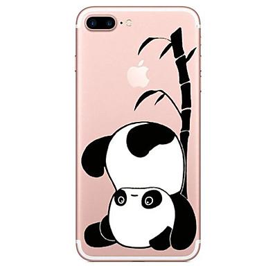 Etui Käyttötarkoitus Apple iPhone X iPhone 8 Läpinäkyvä Kuvio Takakuori Panda Piirretty Pehmeä TPU varten iPhone X iPhone 8 Plus iPhone 8