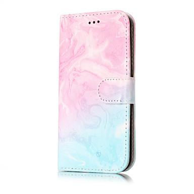 Kılıf Na Samsung Galaxy J7 (2016) J5 (2016) Etui na karty Portfel Z podpórką Flip Wzór Pełne etui Marmur Twarde Skóra PU na J7 (2016) J7