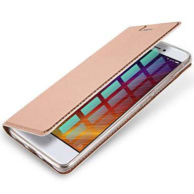 Için Kart Tutucu Flip Manyetik Pouzdro Tam Kaplama Pouzdro Solid Renkli Sert PU Deri için XiaomiXiaomi Redmi 4 Xiaomi Redmi Note 4 Xiaomi