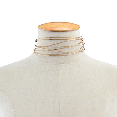billige Mode Halskæde-Dame Enlig Snor Kort halskæde Damer Personaliseret Mode Euro-Amerikansk Guld Halskæder Smykker Til Daglig Afslappet
