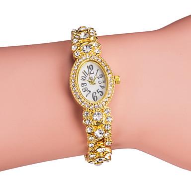 Kadın's Quartz Bilezik Saat Japonca imitasyon Pırlanta Alaşım Bant Işıltılı Zarif Gümüş Altın Rengi